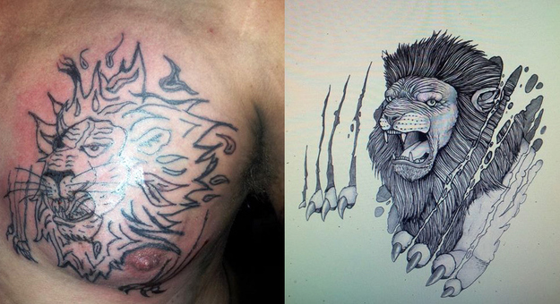 bad lion tattoo
