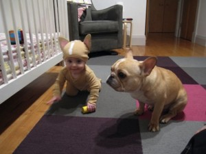 Puppy-and-Baby-dressed-up