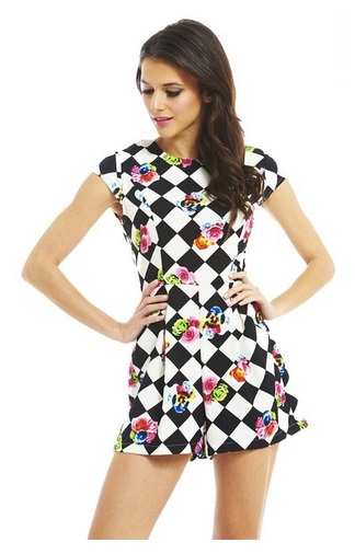 checkered-best-romper