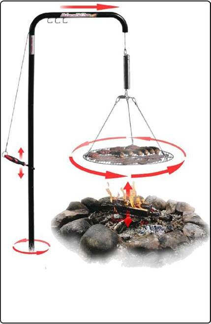 Wimpy's Swing-away Campfire Grill beach gear for the summer