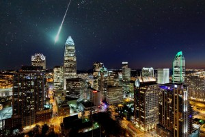 Charlotte_skyline_stars_meteor_shower
