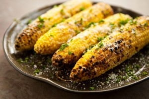 Olive Oil, Garlic and Parmesan corn