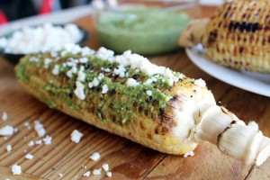 Pesto and Parmesan Corn