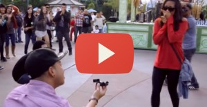 Flash-Mob Marriage Proposal in Downtown Disney
