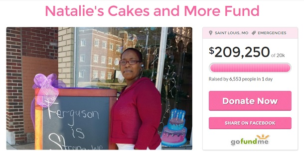 Ferguson bakery recieves support on gofundme