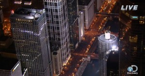Nik Wallenda Is Now Attempting A Blindfolded Tightrope Walk Over 600 Feet Above Chicago