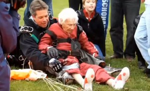 albany grandma dives out of plane