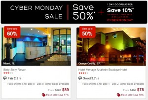 Hotels.com Cyber Monday Sale
