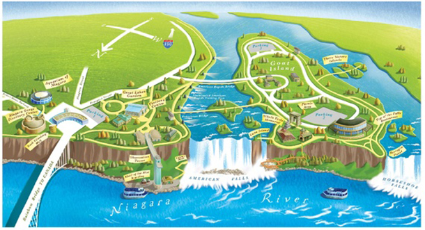 niagra falls without the water1