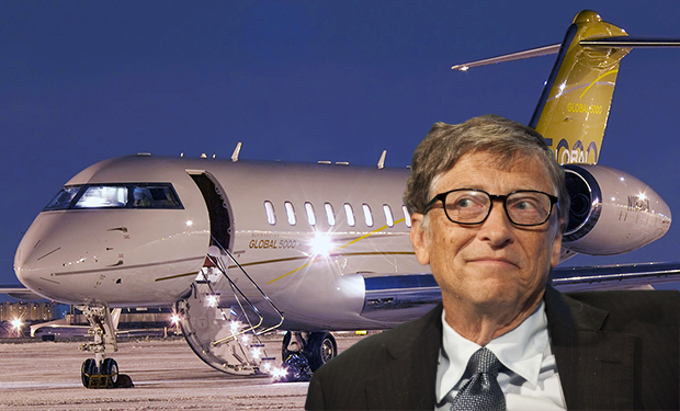 Bombardier_BD-700-bill-gates