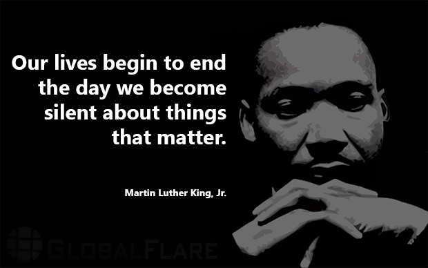 our lives end - MLK quote