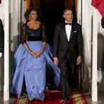 Michelle Obama Carolina Herrera Dress