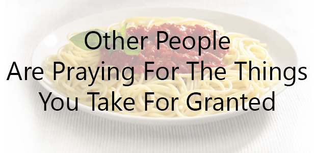 taking things for granted11