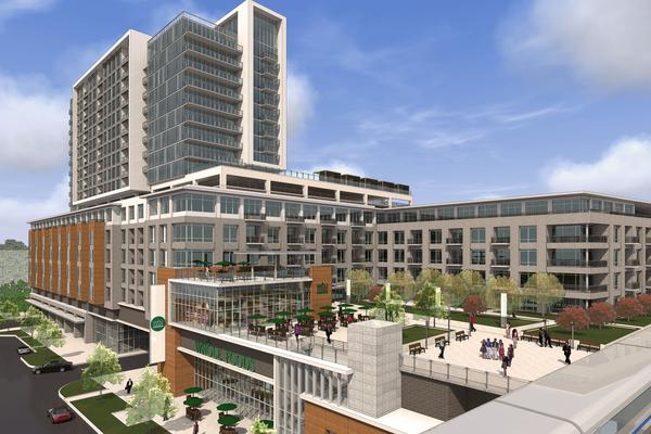 construction starting on uptown 39 s new whole foods hotel