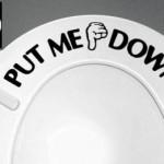 pull me down bathroom decal