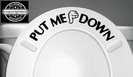 pull me down bathroom decal