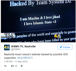 nashville music venue hacked by isis tweet
