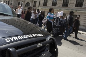 syracuse protest of freddie grey