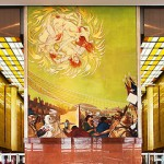Charlotte NC – Founders Hall lobby with frescos by world famous artist Ben Long