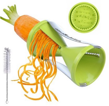 Kid friendly spiral slicer