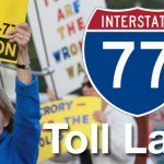 lake norman protesting i77 toll lanes