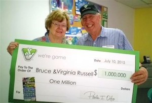 Bruce and Virginia Russell win the lottery