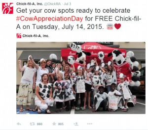 chik fil a day in charlotte