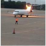 nashville plane catches on fire