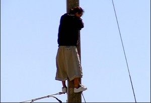 bakersfield-man-on-power-pole