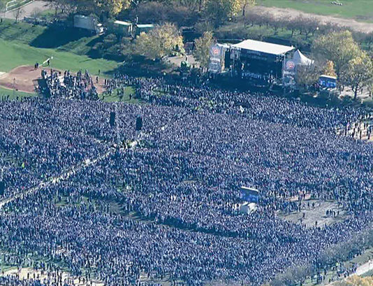cubs celebration largest in history