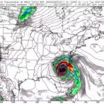 Hurricane Irma over Charleston SC